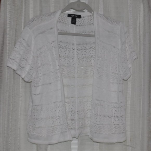 Style & Co Jackets & Blazers - **FINAL PRICE** White Shrug